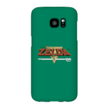 Funda Móvil Nintendo The Legend Of Zelda Retro Logo para iPhone y Android - Samsung S7 Edge - Carcasa rígida - Mate