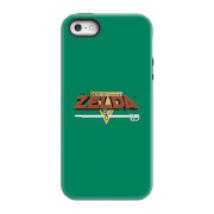 Funda Móvil Nintendo The Legend Of Zelda Retro Logo para iPhone y Android - iPhone 5/5s - Carcasa doble capa - Mate