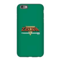 Funda Móvil Nintendo The Legend Of Zelda Retro Logo para iPhone y Android - iPhone 6 Plus - Carcasa doble capa - Mate