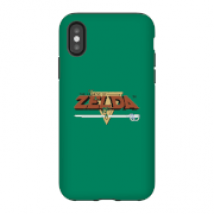 Funda Móvil Nintendo The Legend Of Zelda Retro Logo para iPhone y Android - iPhone X - Carcasa doble capa - Mate