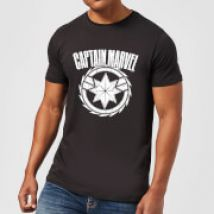 Captain Marvel Logo Men's T-Shirt - Black - XL - Black