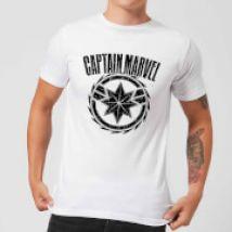 Captain Marvel Logo Men's T-Shirt - White - XL - White