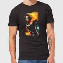 Captain Marvel Galactic Shine Men's T-Shirt - Black - XXL - Black