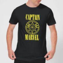 Captain Marvel Grunge Logo Men's T-Shirt - Black - XL - Black
