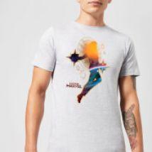 Captain Marvel Nebula Flight Men's T-Shirt - Grey - S - Grey
