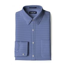 Lands' End Men's Patterned Traditional Fit Straight Collar Easy-iron Pinpoint Shirt - 15½/34
