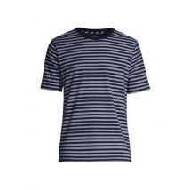 Lands' End Men's Super-T Striped T-shirt - 50-52, Blue