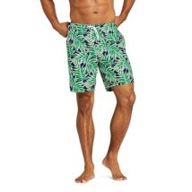 Lands' End Men's 8-inch Patterned Swim Shorts - 44-46, Green