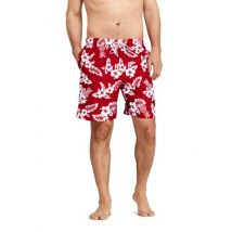 Lands' End Men's 8-inch Patterned Swim Shorts - 32-34, Red