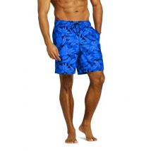 Lands' End Men's 8-inch Patterned Swim Shorts - 40-42, Blue