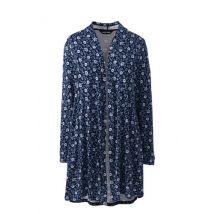 Jersey Long Cardigan, Women, Size: 20 Regular, Blue, Rayon-blend, by Lands'End, Radiant Navy Floral