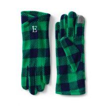 Lands' End Women's Touchscreen Fleece Gloves, Print - S, Blue
