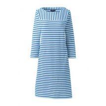 Lands' End Women's Sport Knit Jersey Mariner Stripe Dress - 8, Blue