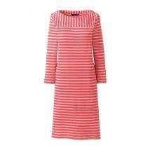 Lands' End Women's Sport Knit Jersey Mariner Stripe Dress - 16-18, Red
