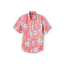 Lands' End Men's Short Sleeve Linen Shirt - 42-44, Red
