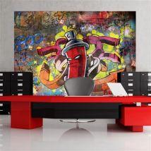 Papier peint - Graffiti monster - Décoration, image, art | Street art | - Décoration des murs