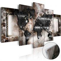 Tableau sur verre acrylique - Graphite Map [Glass] - Décoration, image, art | - Décoration des murs