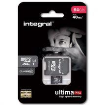 Carte memoire MICROSDHC 64 GO CL 10 Integral - Carte mémoire micro SD