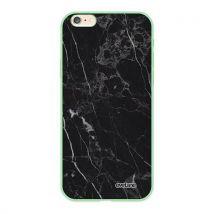 Coque pour iPhone 6/6S Silicone Liquide Douce vert pale Marbre noir Ecriture Tendance et Design [Evetane ] - Etui pour téléphone mobile