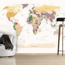 Papier peint | World Map | 350x245 | Carte du monde - Décoration des murs