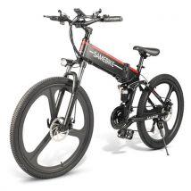 Vélo Electrique SAMEBIKE LO26 Pliant Pneu de 26Po eBike 10.4Ah 499W 25km/h avec Freins à Disque Double, Noir - Vélos
