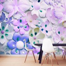 Papier peint - Purple Sweetness - Décoration, image, art   Fonds et Dessins   Motifs floraux   - Décoration des murs