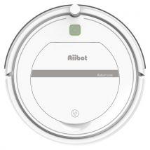 AIIBOT T288 Robot Aspirateur - l'aspiration puissante avec la télécommande, Convient pour Tapis et Sols Durs, Filtre 3D HEPA - Blanc - Aspirateur et N