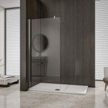 AICA paroi de douche 150cm paroi de douche à l'italienne en 8mm verre anticalcaire hauteur:200cm - Installations salles de bain