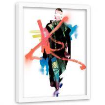 Feeby Tableau décoration Image encadrée Art cadre blanc, Fashion Week 70x100 cm - Décoration murale