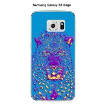 Coque Samsung Galaxy S6 Edge Design Jaguar Bleu Violet