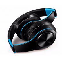 Casque Sans Fil Pliable pour IPOD Touch 5 Smartphone Bluetooth Boutons Reglable Son Universel (BLEU) - Casque PC