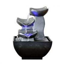 Petite fontaine d'intérieur moderne senzu duro - gris - Décorations d'aquarium