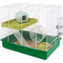 Ferplast Cage pour hamster Duo 46 x 29 x 37,5 cm 57025411 - Habitats et Accessoires pour petits animaux