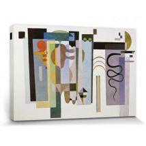 Vassily Kandinsky Poster Reproduction Sur Toile, Tendue Sur Chassis - Deux Points Verts, 1935 (30x20 cm) - Décoration murale