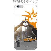 "Onozo - Coque Apple iphone 6-4.7"" design New York - Taxi jaune - Etui pour téléphone mobile"