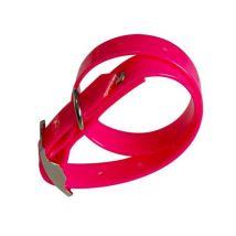 Collier pour chien ajustable avec boucle - 260-370 mm, rose - Colliers, harnais et laisses pour chien