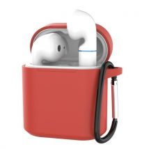 Coque En Silicone Avec Mousqueton Pour Huawei Honor Flypods - Rouge