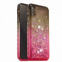 Coque De Protection Magnifique Brillant Antichoc Pour Samsung Galaxy Note 10 Plus - Noir&rose