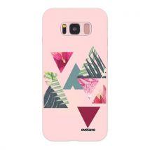 Coque pour Samsung Galaxy S8 Silicone Liquide Douce rose pale Triangles Jungle Ecriture Tendance et Design [Evetane ] - Etui pour téléphone mobile