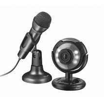 Trust Spotlight Pack Streaming Comprenant une Webcam et un Microphone - Webcam