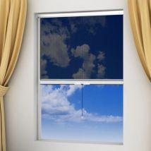 Moustiquaire enroulable blanche pour fenêtre 120 x 170 cm - Santé Chevaux