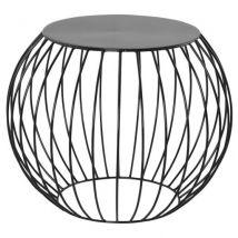 Table d'appoint 'BOULI' en métal peint noir - Tables d'appoint