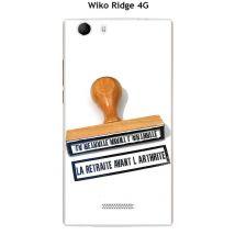 Onozo - Coque Wiko Ridge 4G design Tampon La retraite avant - Etui pour téléphone mobile