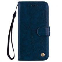 Etui En Cuir Pu Folio Multifonctionnel Antichoc Pour Samsung Galaxy S8 - Bleu