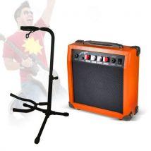 Pack guitariste en herbe - Amplificateur orange guitare portatif + support réglable - Accessoire pour guitare