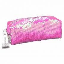 Depesche TOPModel 10416 Etui à crayons avec paillettes roses / argent - Ménage nettoyage