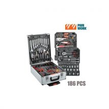 Mallette Outils Pwr Work (186 Outils) - Coffret multi-outils
