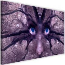 Image murale imprimée Tableau Toile moderne Canevas Regard bleu Fantasy 90x60 - Décoration murale