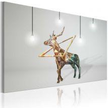 Tableau - Cerf d'or .Taille : 90x60 - Décoration murale