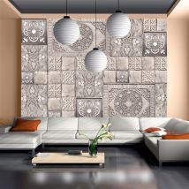 Papier peint - Carreaux de pierre - Artgeist - 400x280 - Décoration des murs